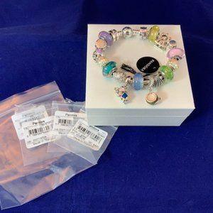 NEW Pandora 925 DISNEY PARKS Bracelet w/18 Charms